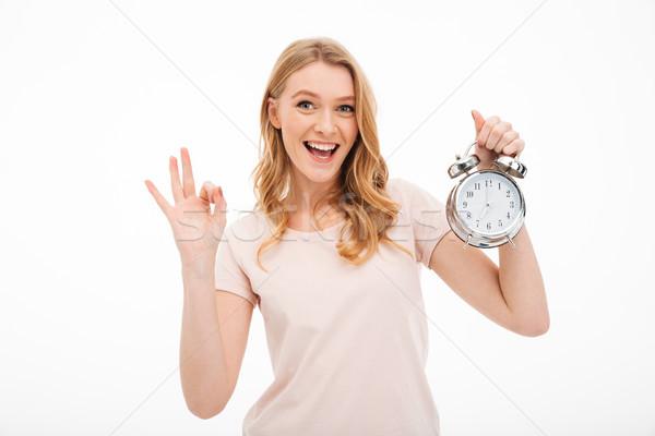 счастливым будильник вызывать Сток-фото © deandrobot