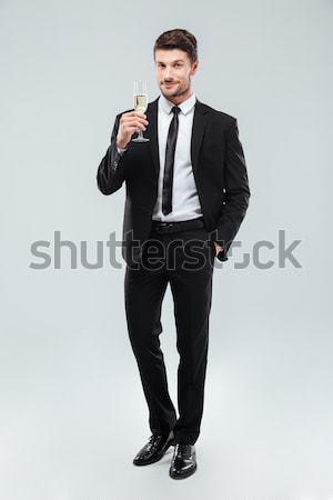 Stockfoto: Glimlachend · knap · jonge · zakenman · permanente