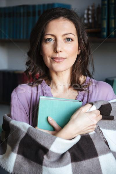 肖像 成熟した女性 カバー 図書 ストックフォト © deandrobot