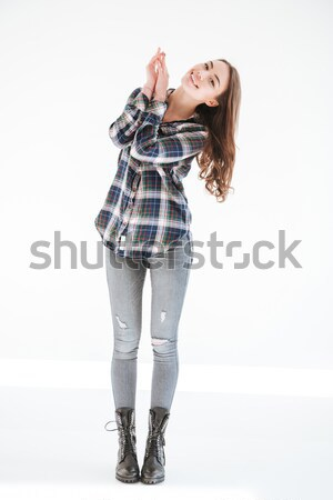 Retro man shirt vloer afbeelding Stockfoto © deandrobot