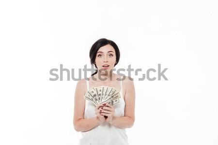 Portrait jolie femme argent Photo stock © deandrobot