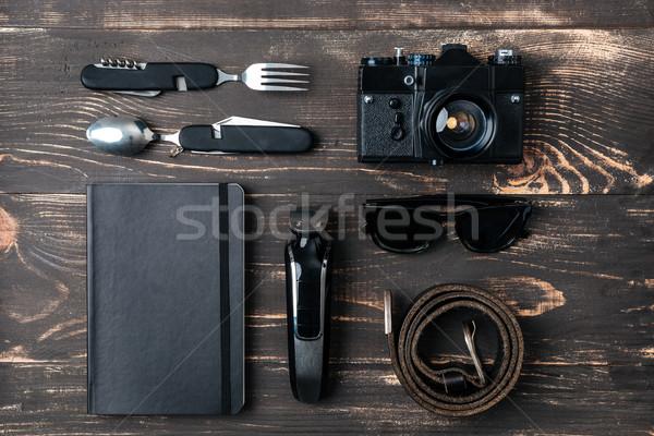 Reis kleding bureau ruimte tabel Stockfoto © deandrobot