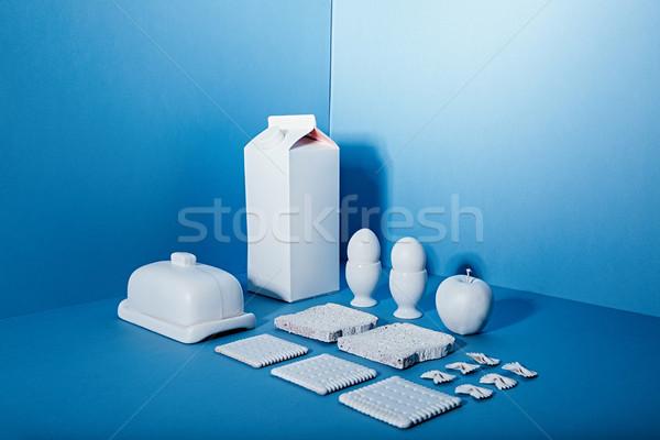 Fehér csomag tej tojások vaj alma Stock fotó © deandrobot