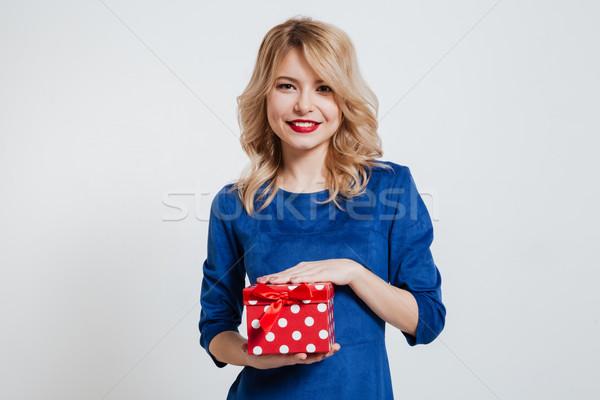 удивительный шкатулке фото синий Сток-фото © deandrobot