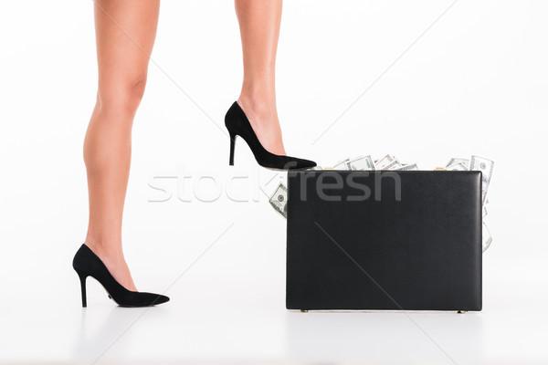 Portret vrouwelijke benen Stockfoto © deandrobot
