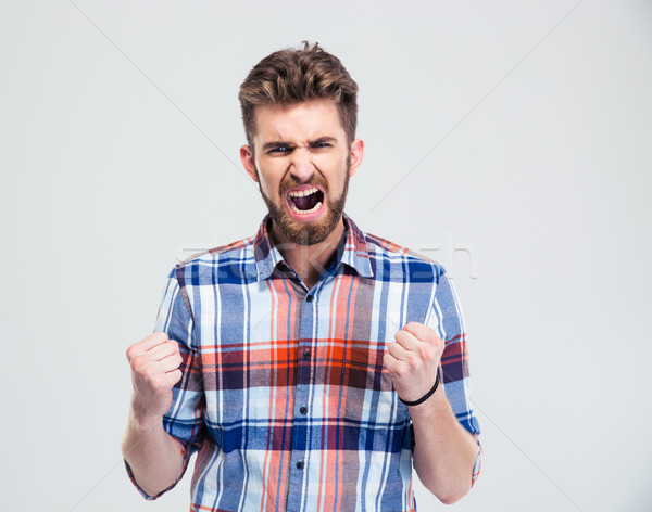 Angry man shouting Stock photo © deandrobot