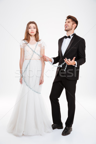 Man catching woman Stock photo © deandrobot