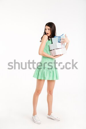 Belo sorrindo azul vestir água Foto stock © deandrobot