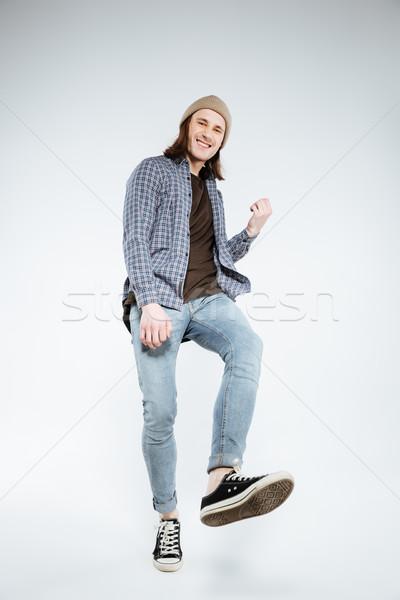 垂直 画像 ヒップスター 演奏 虚数 ギター ストックフォト © deandrobot