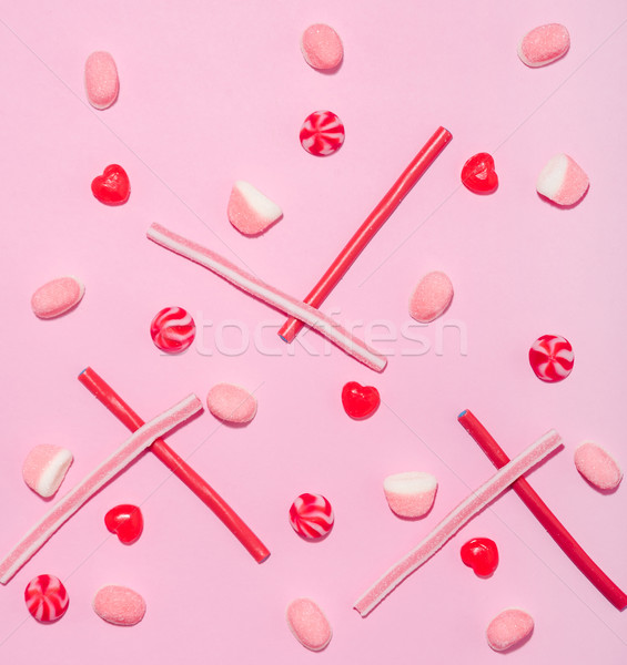 Színes keverék rózsaszín piros cukor zselé Stock fotó © deandrobot