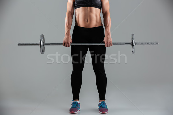 Image musculaire adulte permanent Photo stock © deandrobot
