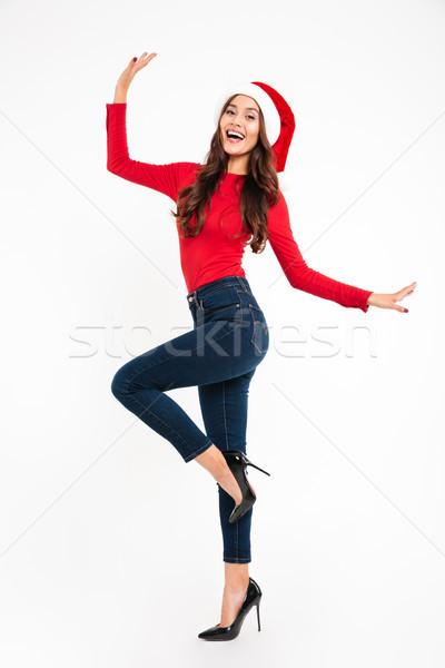 全長 肖像 快樂 吸引力 亞洲的 女子 商業照片 © deandrobot