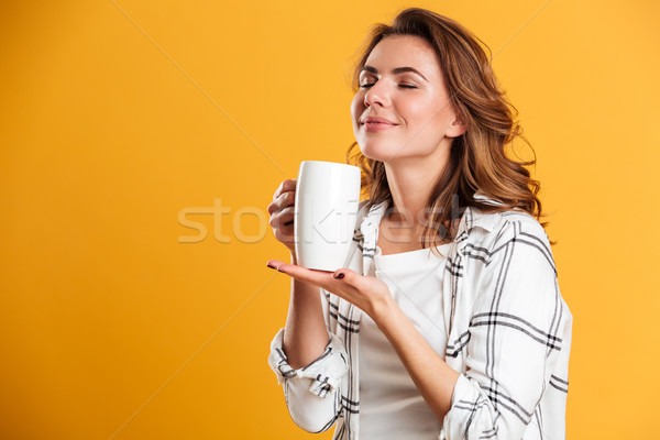 Hermosa taza té Foto stock © deandrobot