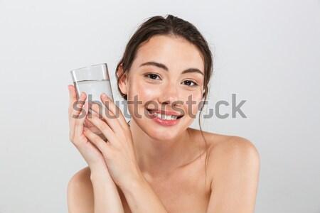 Szépség portré fiatal csinos nő puha egészséges Stock fotó © deandrobot