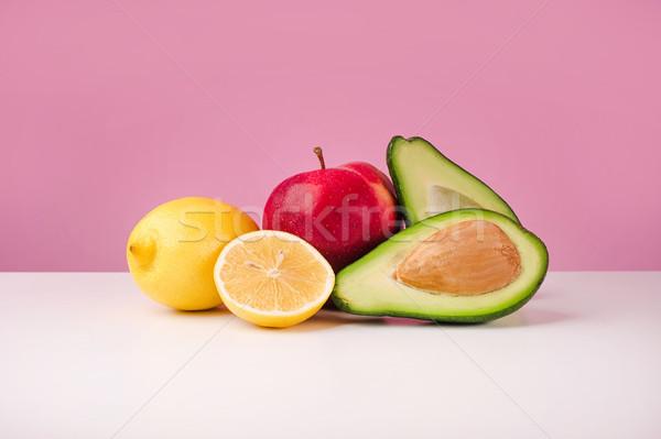 Set fresche succosa limone mela avocado Foto d'archivio © deandrobot