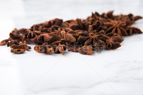 Close up portrait of anise seeds Stock photo © deandrobot