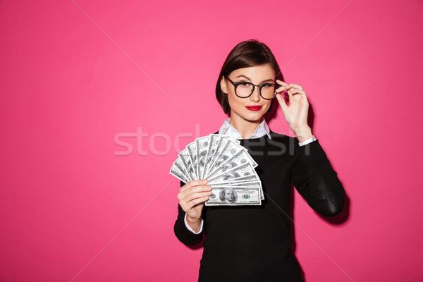 Portrait réussi femme d'affaires argent Photo stock © deandrobot