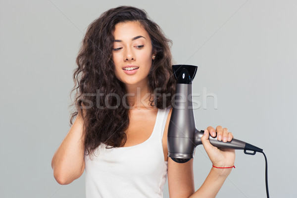 how to style thick curly frizzy hair souriant 183 183 femme 183 gris 183 mod 232 le photo stock 3076