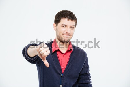 Sad man showing thumb down Stock photo © deandrobot