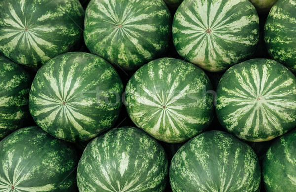Pile of watermelons Stock photo © deandrobot