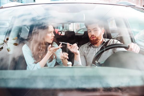 けんか 車 フロント 画像 電話 ストックフォト © deandrobot