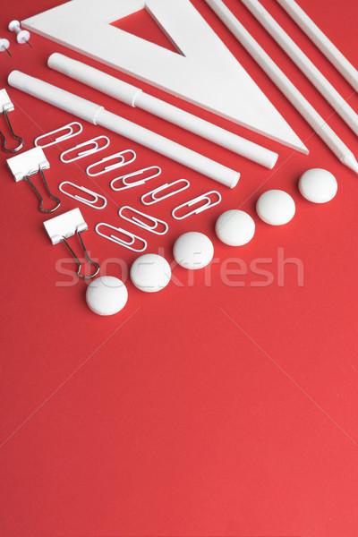 事務用品 赤 表 画像 ビジネス オフィス ストックフォト © deandrobot