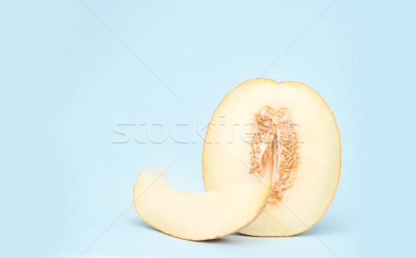 Orizzontale shot melone isolato metà giallo Foto d'archivio © deandrobot