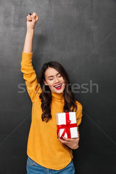 垂直 画像 女性 セーター ストックフォト © deandrobot