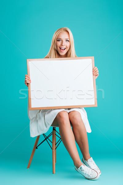 Foto stock: Alegre · sorrindo · conselho · sessão · cadeira