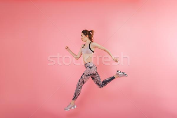 Grave concentrato giovani fitness sport donna Foto d'archivio © deandrobot