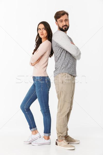 Elégedetlen fiatal szerető pár veszekedés kép Stock fotó © deandrobot