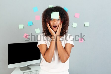 Young woman blowing on the Polish flag Stock photo © deandrobot