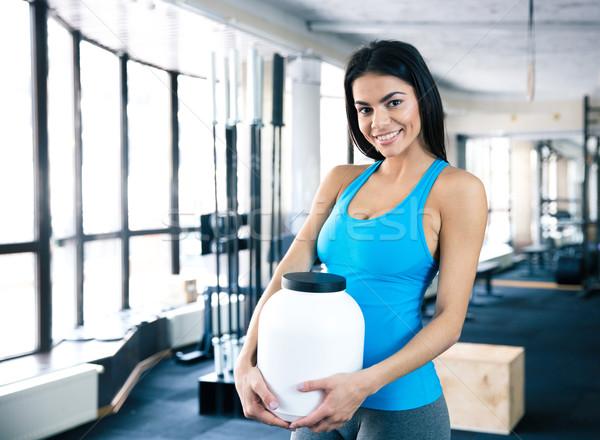 幸せ 女性 スポーツ 栄養 ストックフォト © deandrobot