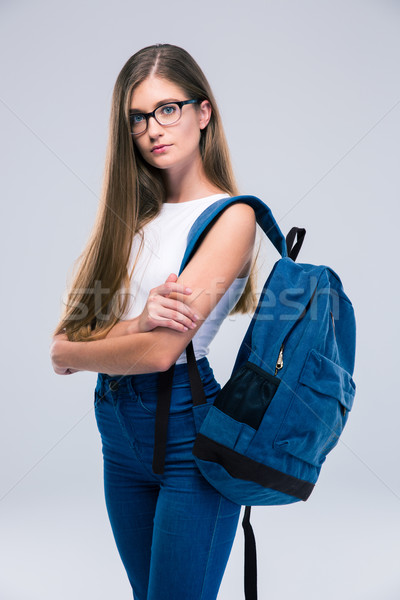 Female Teenager Standing Arms Crossed Stock Photo C Dean