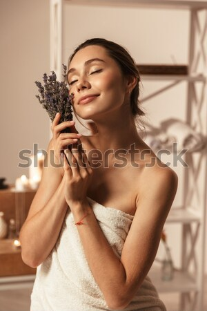 Verleidelijk sensueel jonge vrouw korset zwarte kant Stockfoto © deandrobot