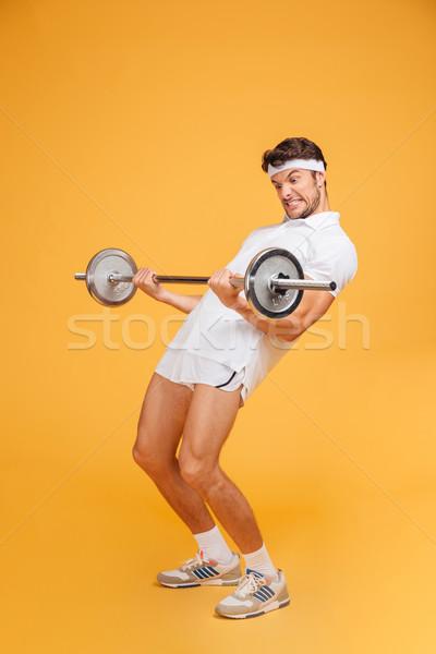 красивый молодые спортсмен Постоянный Сток-фото © deandrobot
