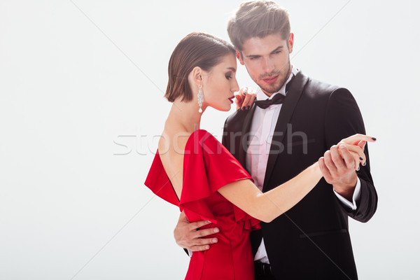 Attractive young couple in love Stock photo © deandrobot
