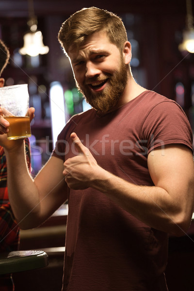 幸せ 小さな あごひげを生やした 男 ストックフォト © deandrobot