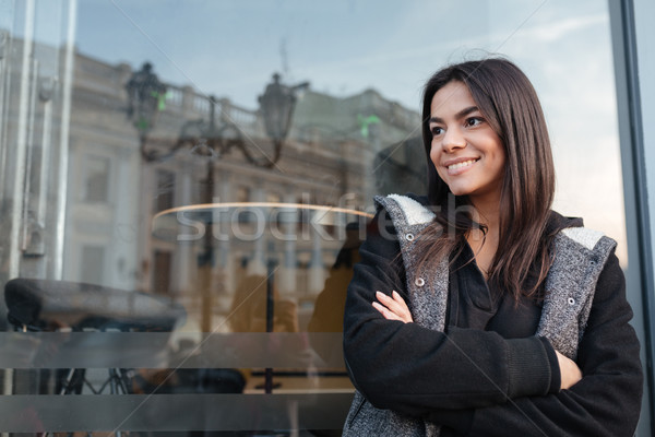 Portrait of cute young woman Stock photo © deandrobot