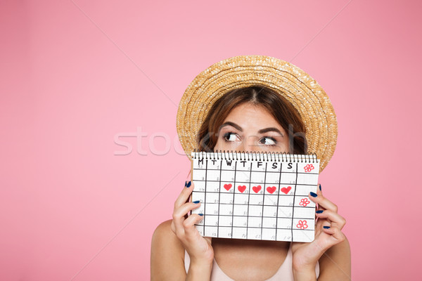 Portrait of a funny young girl Stock photo © deandrobot