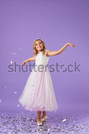 Portret uśmiechnięty atrakcyjna dziewczyna jak princess Zdjęcia stock © deandrobot