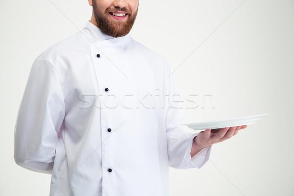 Stock fotó: Boldog · férfi · szakács · szakács · tart · üres