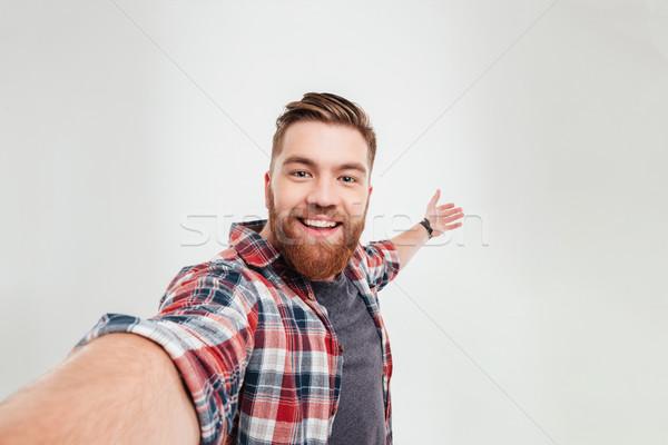 肖像 あごひげを生やした 男 ストックフォト © deandrobot