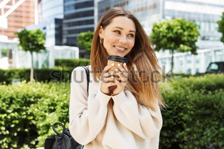 Сток-фото: портрет · счастливым · долго · имбирь · волос