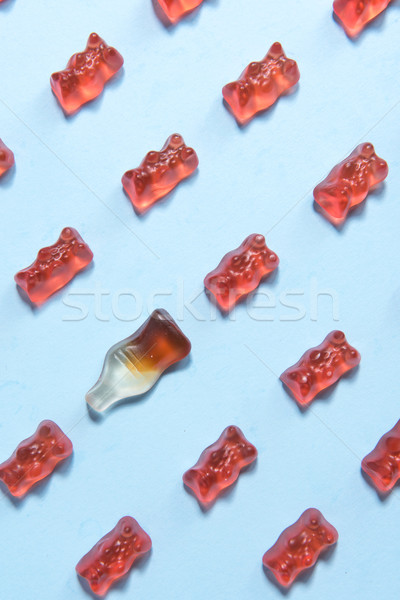 Chewing candy in teddy bear form Stock photo © deandrobot