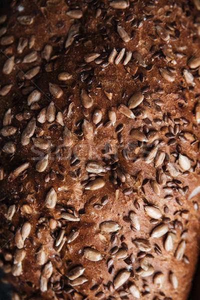 Brood bakkerij afbeelding cafe ontbijt boord Stockfoto © deandrobot