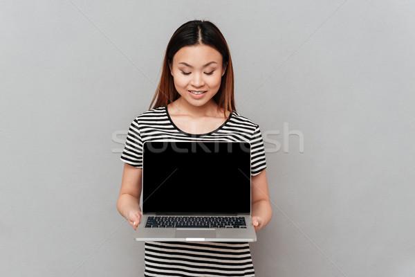 Laptop schermo guardando isolato Foto d'archivio © deandrobot