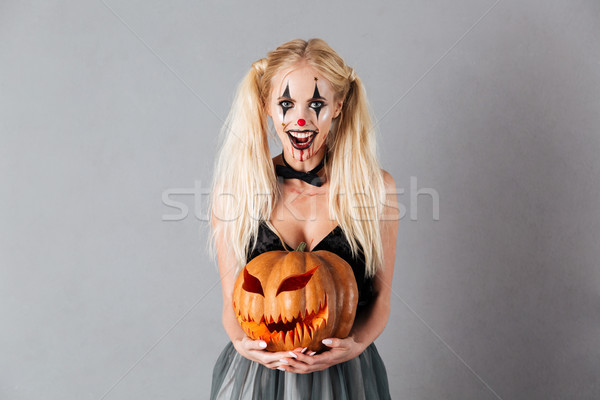 ストックフォト: 幸せ · ハロウィン · を構成する · オープン · 口