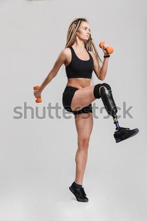 Stock fotó: Teljes · alakos · portré · fiatal · egészséges · fitnessz · nő · pózol