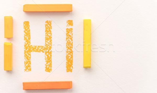Topo ver palavra laranja pastel Foto stock © deandrobot